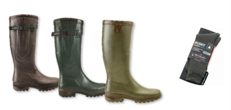 Adventsgeschenk: Beim Kauf der Aigle Parcours 2 Gummistiefel gibt es gratis dazu ein paar Rusky Thermo Socken!